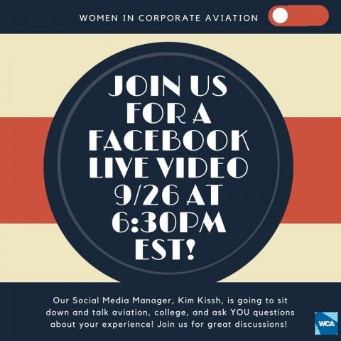 WCA Facebook Live 9/26 @ 6:30 PM EST