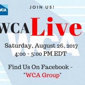 Join us for WCA Live on August 26th at 4PM EST!