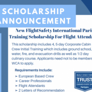 FlightSafety International Paris Training Scholarship for Flight Attendants