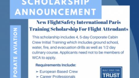 FlightSafety International Paris Training Scholarship for Flight Attendants