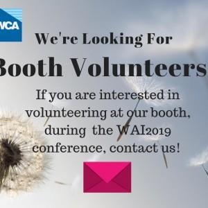 WAI Booth Volunteers Needed