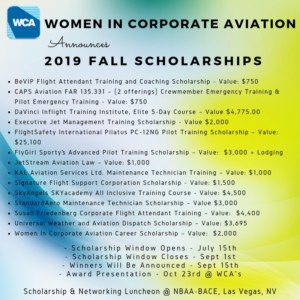 2019 Fall Scholarships