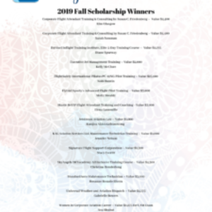 Congratulations – 2019 Fall Scholarship Winners!